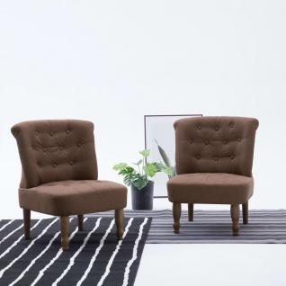 vidaXL Französische Stühle 2 Stk. Braun Stoff