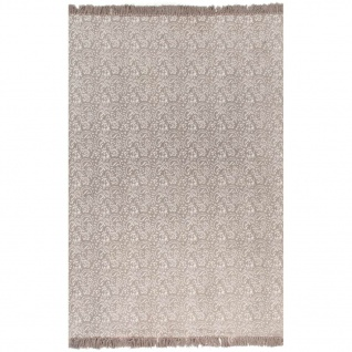 vidaXL Kelim-Teppich Baumwolle 160x230 cm mit Muster Taupe