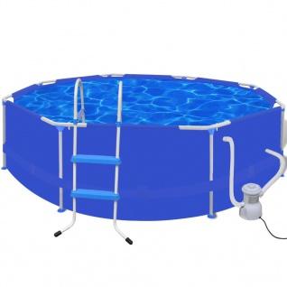 Schwimmbecken Schwimmbad Pool + Leiter + Pumpe