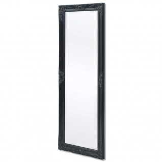 vidaXL Wandspiegel im Barock-Stil 140x50 cm Schwarz