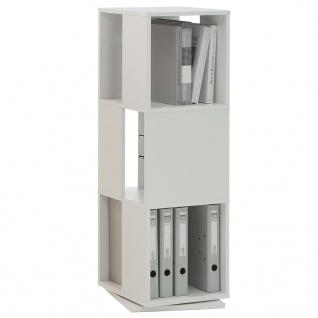 FMD Drehbarer Aktenschrank offene Fächer 34 x 34 x 108 cm Weiß
