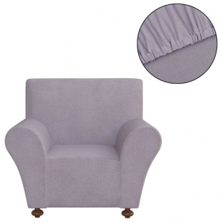 vidaXL Sofahusse Stretchhusse Sofabezug Grau Polyester Jersey