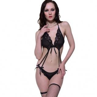 Sexy Lingerie Dessous Body Reizwäsche rückenfrei Gr. S / M