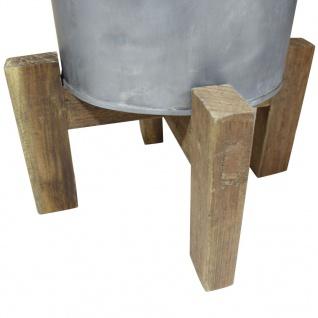 vidaXL Wäschekorb Eisen Verzinkt Altholz Massiv 30 x 30 x 58 cm - Vorschau 4