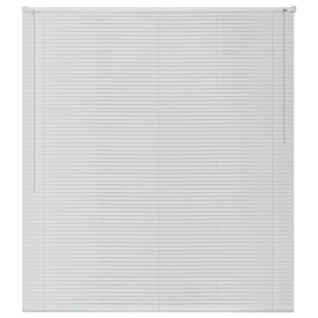 vidaXL Fensterjalousien Aluminium 140x220 cm Weiß - Vorschau 2