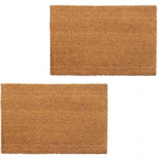 vidaXL Natürliche Fußmatten 2 Stk. Coir 24 mm 50x80 cm