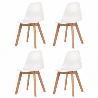 vidaXL Esszimmerstühle 4 Stück Weiß