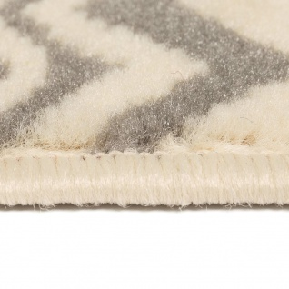vidaXL Teppich Modern Zickzack-Design 160 x 230 cm Beige/Grau - Vorschau 3