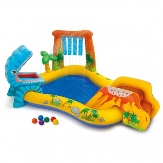 Intex Aufblasbarer Pool Dinosaur Play Center 249x191x109 cm 57444NP