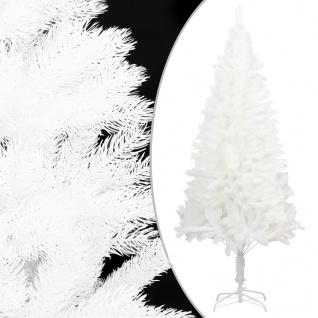 vidaXL Künstlicher Weihnachtsbaum Naturgetreue Nadeln Weiß 180 cm