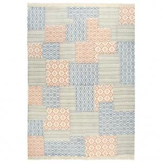 vidaXL Kelim-Teppich Handgewebt Baumwolle 200×290 cm Bedruckt