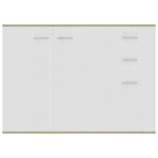 vidaXL Sideboard Weiß Sonoma-Eiche 105 x 30 x 75 cm Spanplatte - Vorschau 5