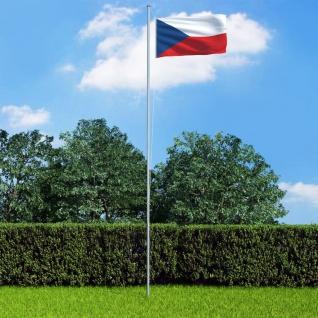 vidaXL Flagge Tschechiens und Mast Aluminium 6, 2 m