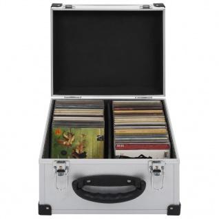 vidaXL CD-Koffer für 40 CDs Aluminium ABS Silbern