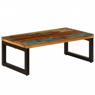 vidaXL Couchtisch 100 x 50 x 35 cm Recyceltes Massivholz und Stahl