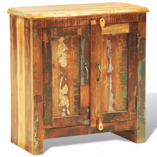vidaXL Anrichte mit 2 Türen Altholz Massivholz Vintage