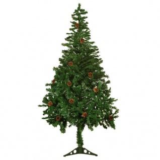 vidaXL Künstlicher Weihnachtsbaum mit Tannenzapfen gefrostet 150 cm