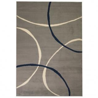 vidaXL Teppich Modern Kreise 180 x 280 cm Grau
