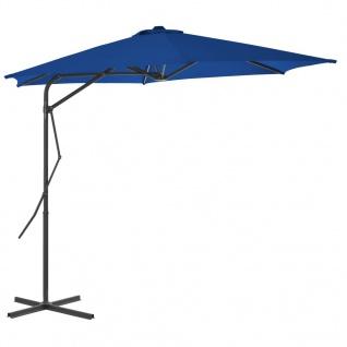 vidaXL Sonnenschirm mit Stahlmast Blau 300x230 cm