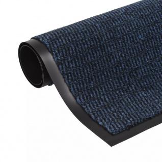 vidaXL Schmutzfangmatte Rechteckig Getuftet 90 x 150 cm Blau
