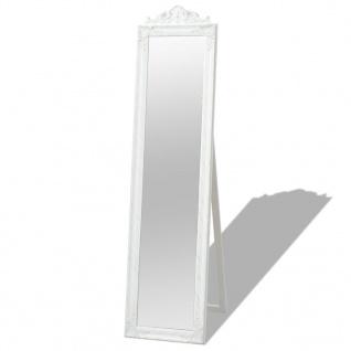 vidaXL Standspiegel im Barock-Stil 160x40 cm Weiß