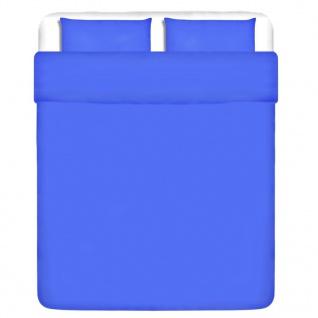 vidaXL 3-tlg. Bettwäsche-Set Baumwolle Blau 200x220/80x80 cm