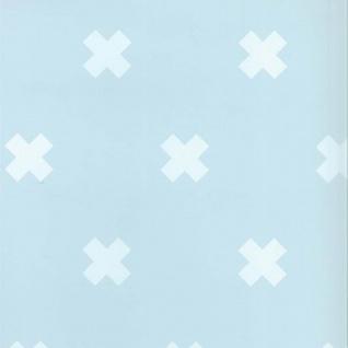Fabulous World Tapete Cross Hellblau und Weiß 67104-4