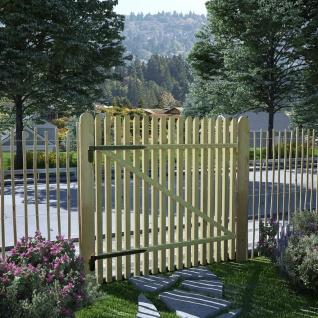 vidaXL Pfahl-Gartentor Imprägnierte Kiefer 100x100 cm