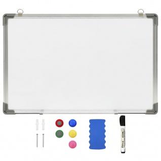 vidaXL Magnetisches Whiteboard Weiß 60 x 40 cm Stahl
