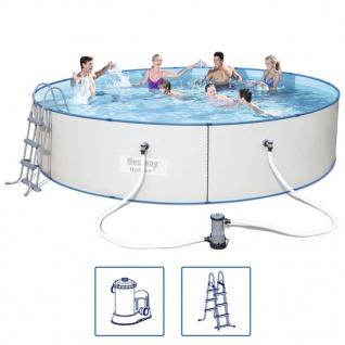 Bestway Hydrium Pro Schwimmbad Set Stahlrahmen 488x107 cm 56386