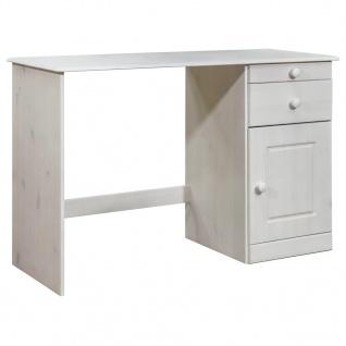 vidaXL Schreibtisch mit Schubladen 110x50x74 cm Kiefer Massivholz