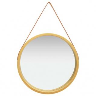 vidaXL Wandspiegel mit Riemen 60 cm Golden