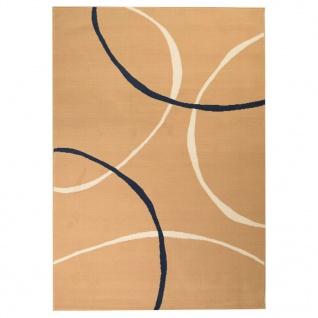vidaXL Teppich Modern Kreise 80 x 150 cm Braun