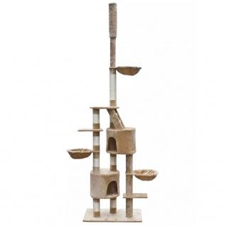 XL Kratzbaum Katzen Katzenbaum Sisal 230-260 cm Beige