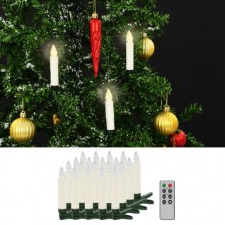 vidaXL Kabellose LED-Kerzen mit Fernbedienung 20 Stk. Warmweiß