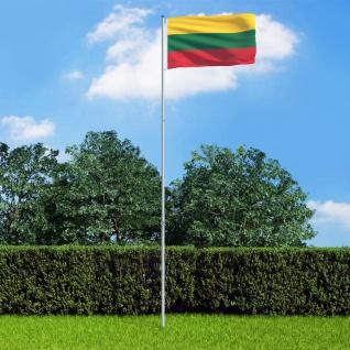 vidaXL Flagge Litauens und Mast Aluminium 6 m