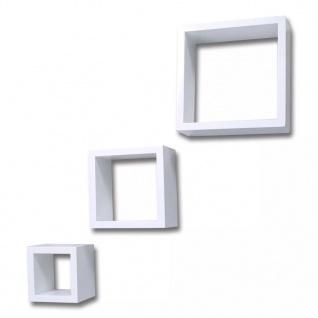 Dekorative Würfelregal Wandregal (3er Set) Weiß - Vorschau 4