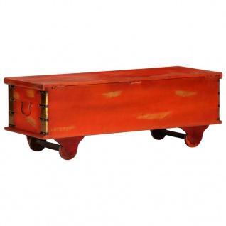vidaXL Aufbewahrungstruhe Rot 110 x 40 x 40 cm Massivholz Akazie - Vorschau 5