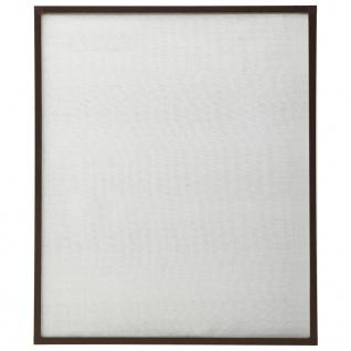 vidaXL Insektenschutz für Fenster Braun 110x130 cm