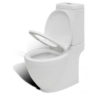vidaXL KeramiK-Toilette Waagerechter Abgang Weiß