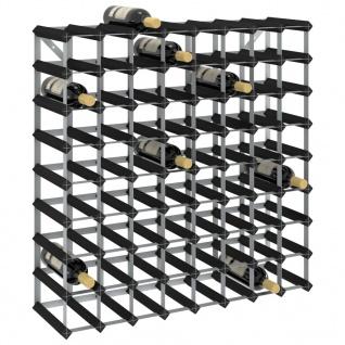 vidaXL Weinregal für 72 Flaschen Schwarz Massivholz Kiefer
