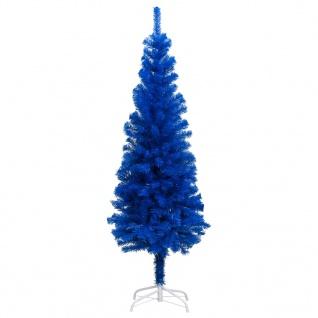 vidaXL Künstlicher Weihnachtsbaum mit Ständer Blau 210 cm PVC