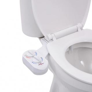 vidaXL Bidet-Aufsatz für Toilettensitz Heißes Kaltes Wasser Einzeldüse