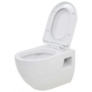 vidaXL Wand-WC Keramik Weiß - Vorschau 2