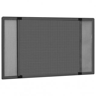 vidaXL Insektenschutz für Fenster Ausziehbar Anthrazit (100-193)x75cm