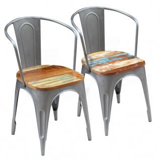 vidaXL Esszimmerstühle 2 Stk. Recyceltes Massivholz