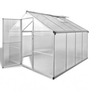 vidaXL Verstärktes Gewächshaus Aluminium 6, 05 m²