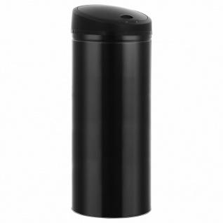 vidaXL Automatischer Sensor-Mülleimer 62 L Schwarz