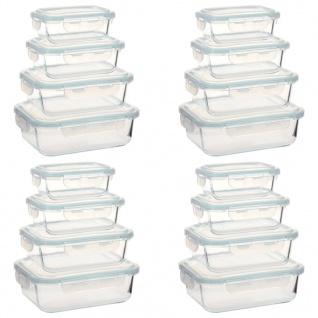 vidaXL Glas-Lebensmittelbehälter 16 Stk.