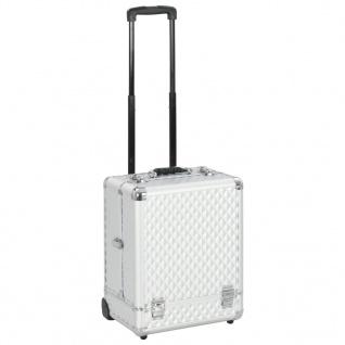 vidaXL Kosmetik-Trolley 35×29×45 cm Silbern Aluminium